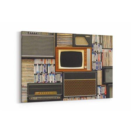 Eski Tv ve Radyo Kanvas Tablo