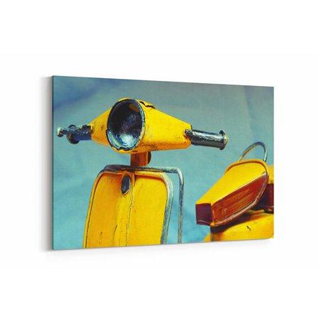 Eski Motosiklet Kanvas Tablo