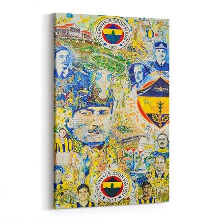 Geçmişten Bugüne Fenerbahçe Kanvas Tablo