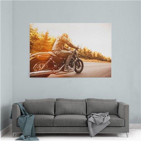 Motorbisiklet Tutkusu Kanvas Tablo