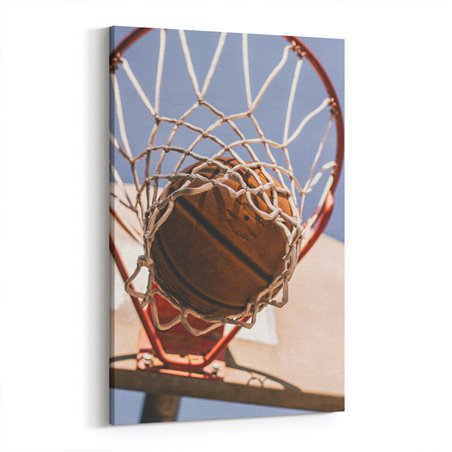 Basketbol ve Basketbol Topu Kanvas Tablo