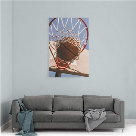 Basketbol ve Basketbol Topu Kanvas Tablo