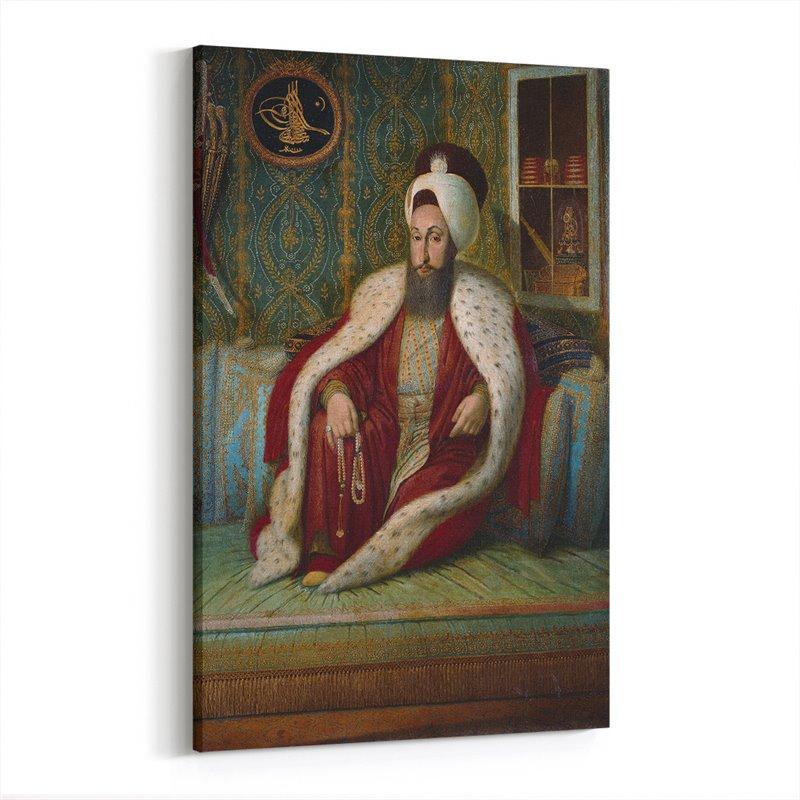 Osmanlı Padişahı Orhan Gazi Kanvas Tablosu