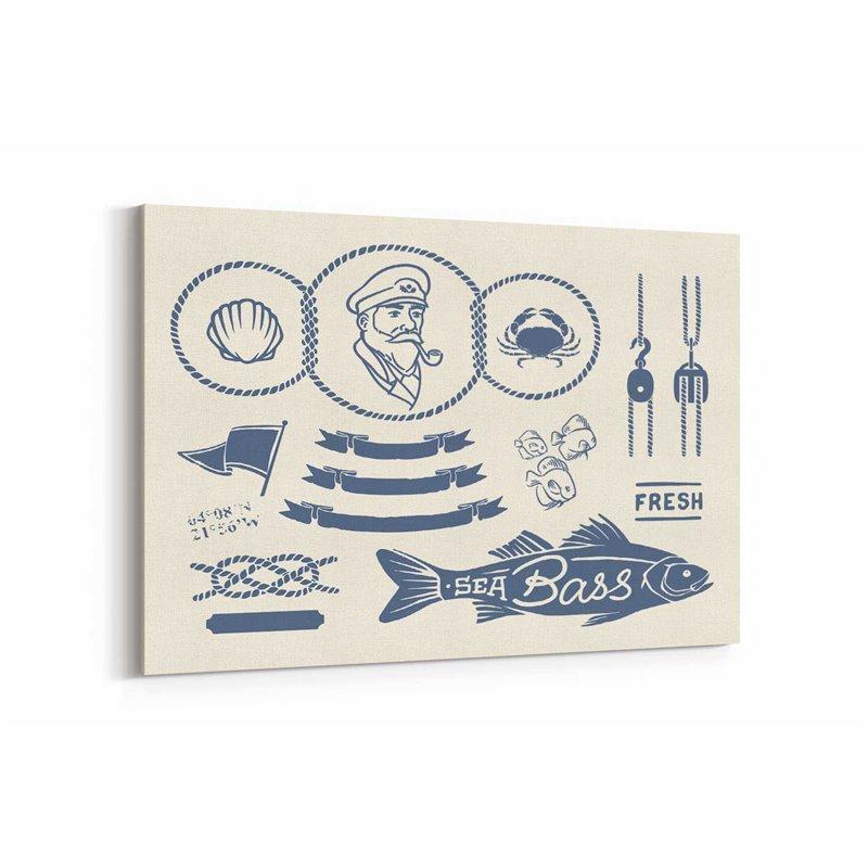 Sea Bass Kanvas Tablo