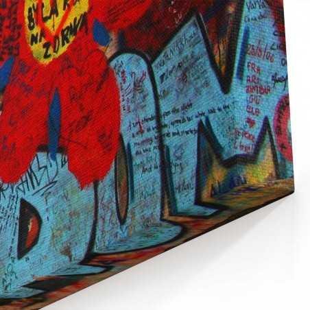 Korea Grafiti Kanvas Tablo