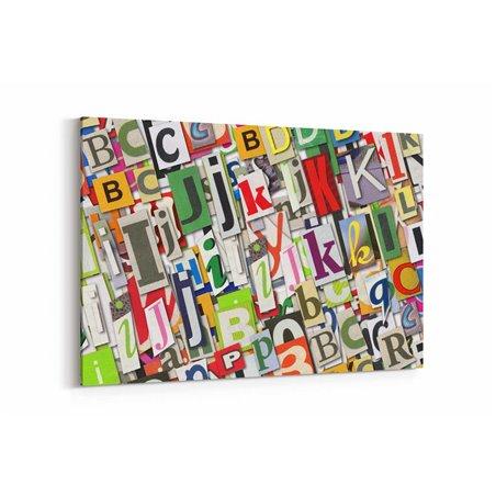 Tipografik Harfler Kanvas Tablo