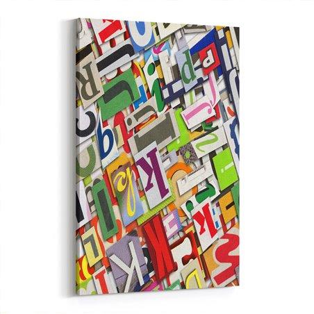 Tipografi Harfler Kanvas Tablo