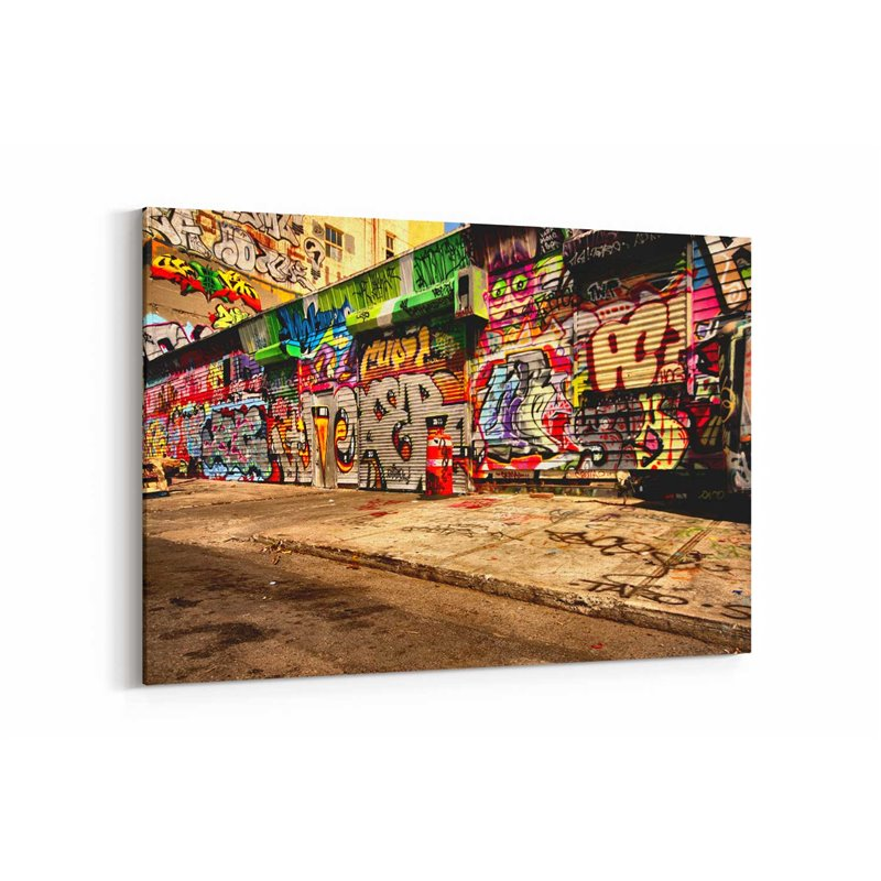 Grafiti Dükkan Kepenkleri Kanvas Tablo