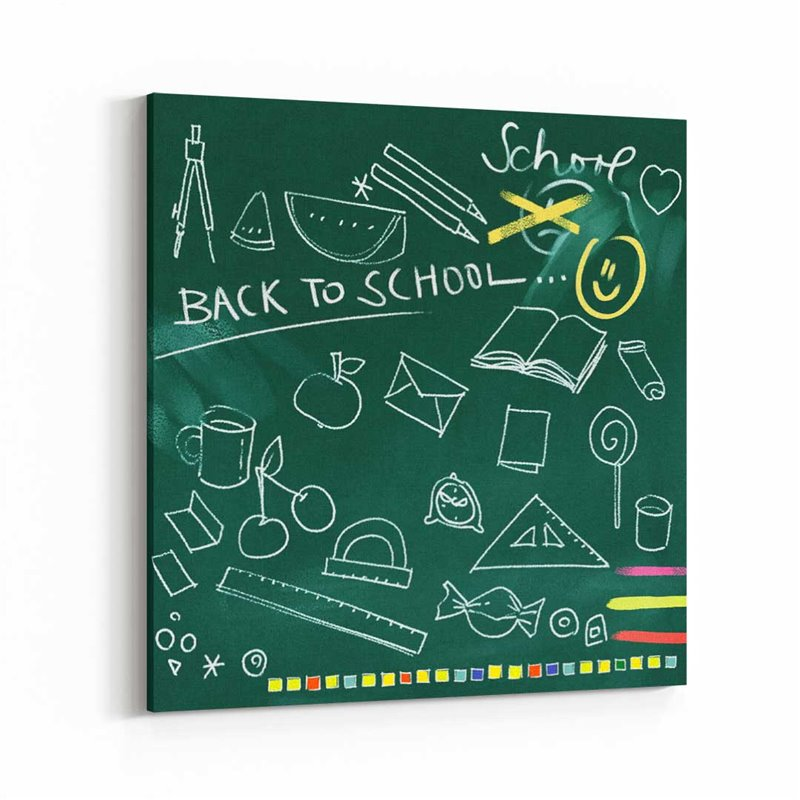 Üzülmek Yok Okula Dönüş Kanvas Tablo