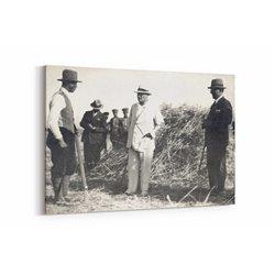 Çiftçiler ve Atatürk Kanvas Tablosu