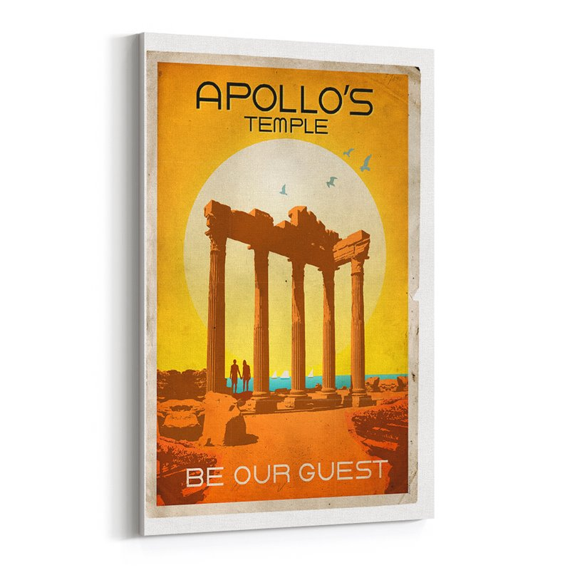 Apollo Tapınağı Kanvas Tablo