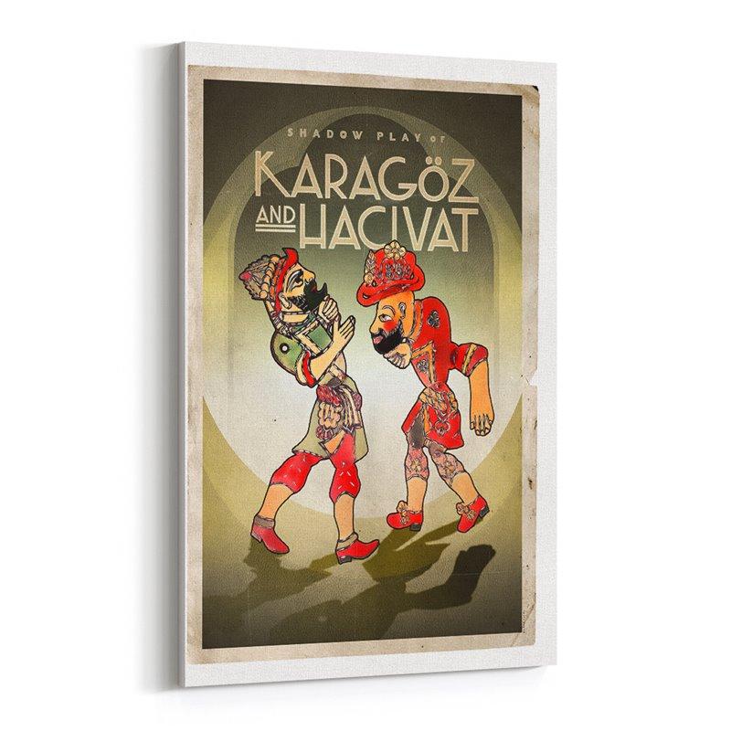 Karagöz ve Hacıvat Kanvas Tablo