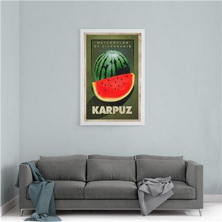 Karpuz Türkiye Kanvas Tablo