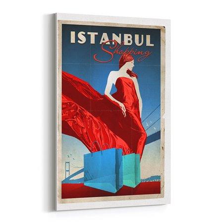 İstanbul Alışveriş Kanvas Tablo