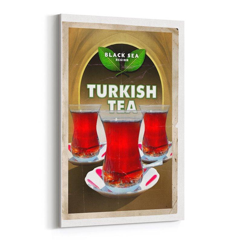 Türk Çayı Kanvas Tablo