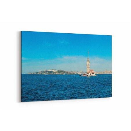 Kız Kulesi ve Deniz Kanvas Tablo