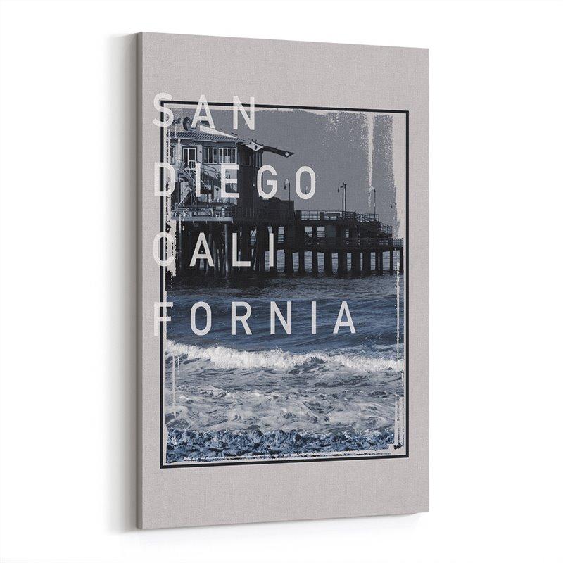 San Diego Kaliforniya Amerika Kanvas Tablo