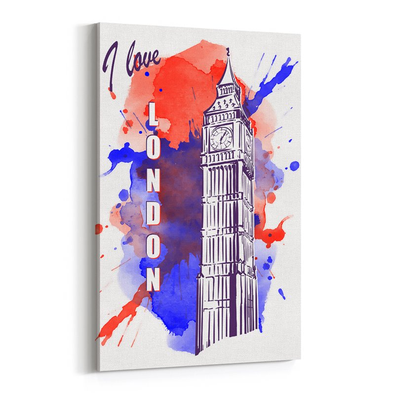 Londra Big Ben İngiltere Çizim Kanvas Tablo