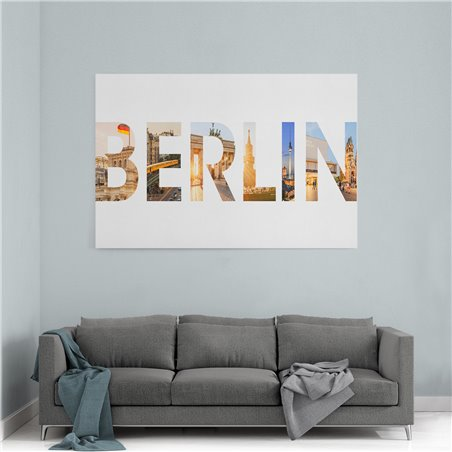 Berlin Şehir Kanvas Tablo