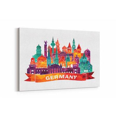 Almanya İllüstrasyon Kanvas Tablo