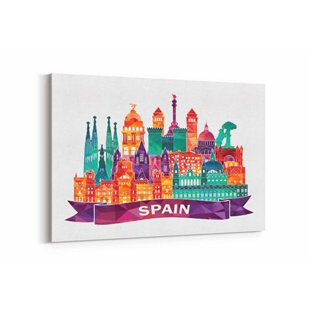 İspanya İllüstrasyon Kanvas Tablo