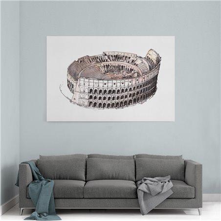 Roma Arena İllüstrasyon Kanvas Tablo