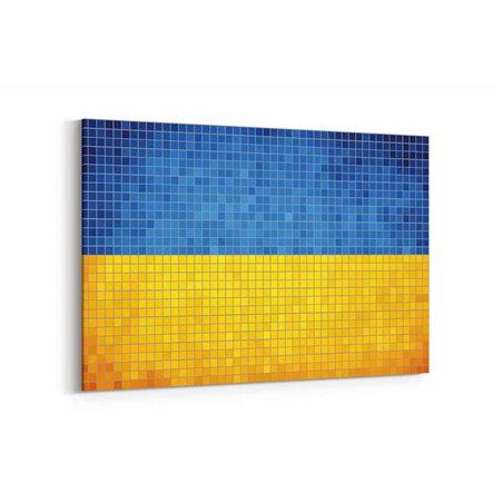 Ukrayna Bayrak Kanvas Tablo