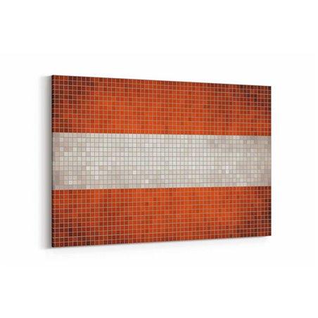 İsveç Bayrak Kanvas Tablo