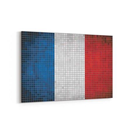Fransa Bayrak Kanvas Tablo
