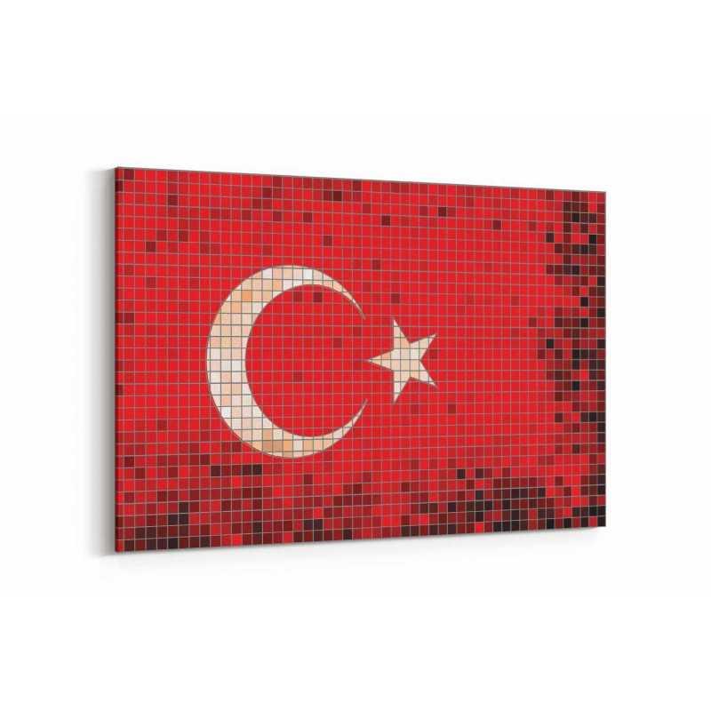 Türkiye Bayrak Kanvas Tablo