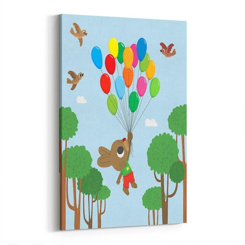 Tavşan ve Balonlar  Kanvas Tablosu