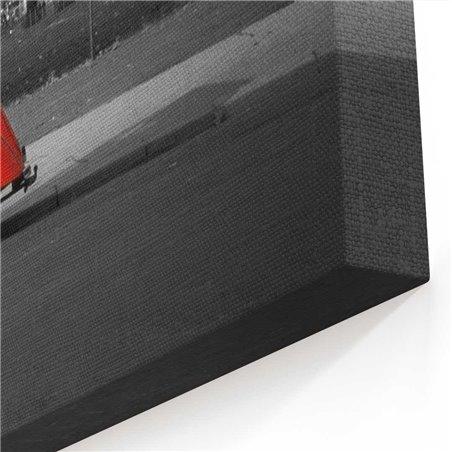 Eyfel ve kırmızı vosvos Kanvas Tablo