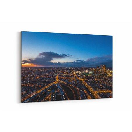 Günbatımı Şehir Manzarası Kanvas Tablo