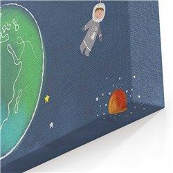 Uzay Çizimi Kanvas Tablosu