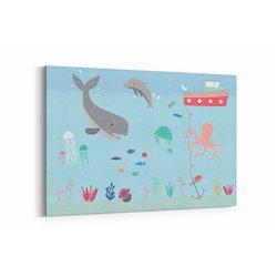 Su Altı Dünyası Çocuk Odası Kanvas Tablosu