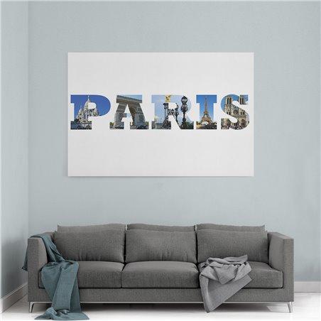 Paris Çizim Kanvas Tablo