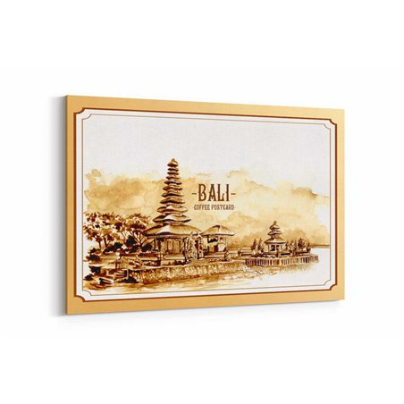 Bali Posta Kartı Kanvas Tablo