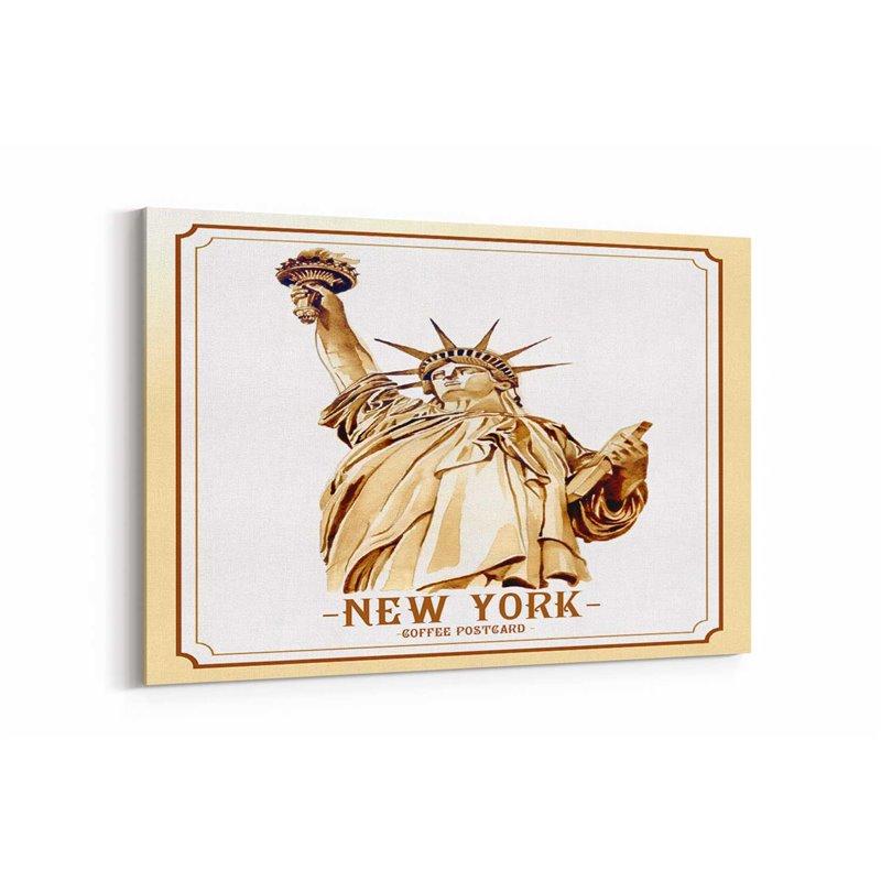 New York Posta Kartı Kanvas Tablo