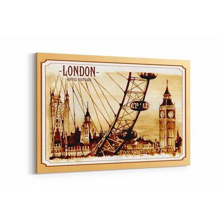 London Posta Kartı Kanvas Tablo