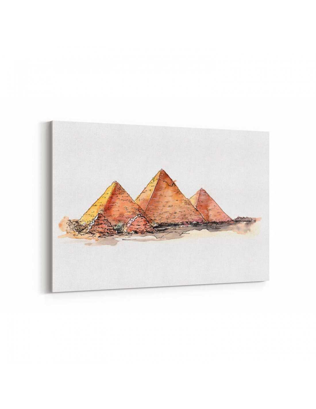 Misir Piramitler Cizim Kanvas Tablo