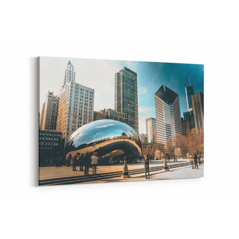 Cloud Gate, Chicago Kanvas Tablo