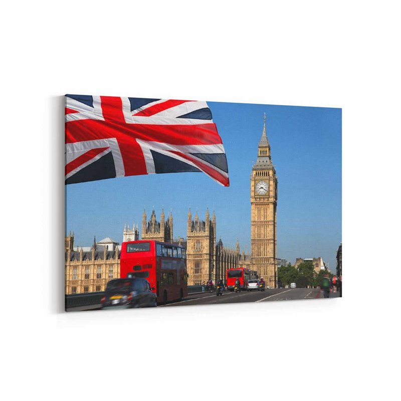 İngiltere Bayrağı Kanvas Tablo