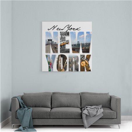 New York Şehir  Kanvas Tablo