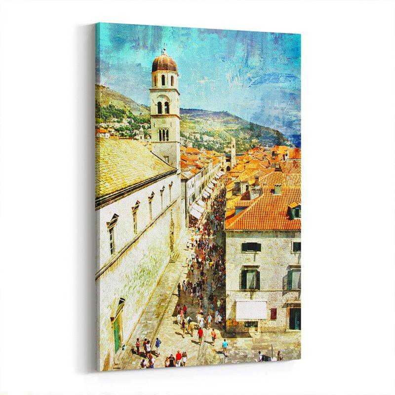 Dubrovnik Tepeden Kanvas Tablo