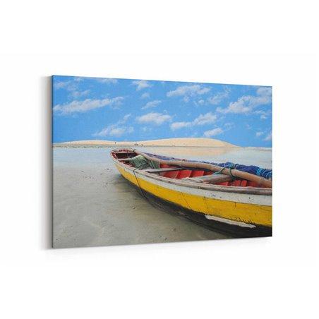 Balıkçı Teknesi Kanvas Tablo
