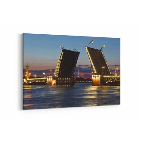 Palace Köprüsü,Neva Nehri St Petersburg Kanvas Tablo