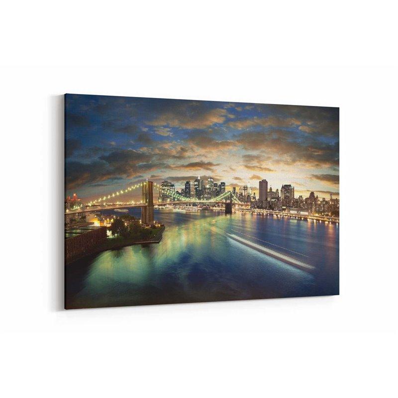 New York City Manzara Kanvas Tablo
