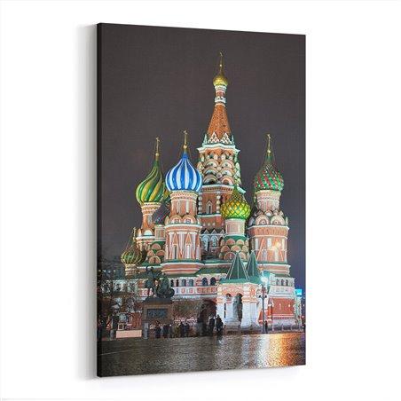 Moskowa Saint Basil Katedrali Kanvas Tablo