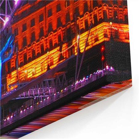 London Eye Gece Manzarası Kanvas Tablo