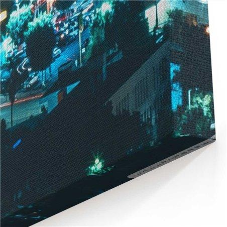 New York City Gece Kanvas Tablo